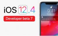 苹果发布了iOS12.4 beta7更新,
